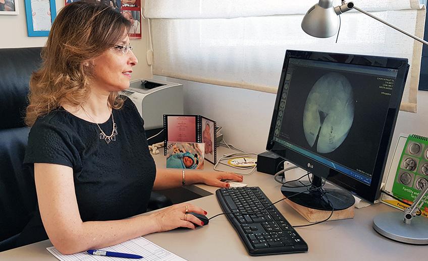 צילום רחם - הידרוסונוגרפיה - HSG